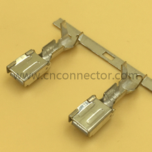 Crimping female auto terminals